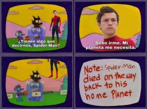 Los Simpsons ya predijeron el final de Spiderman