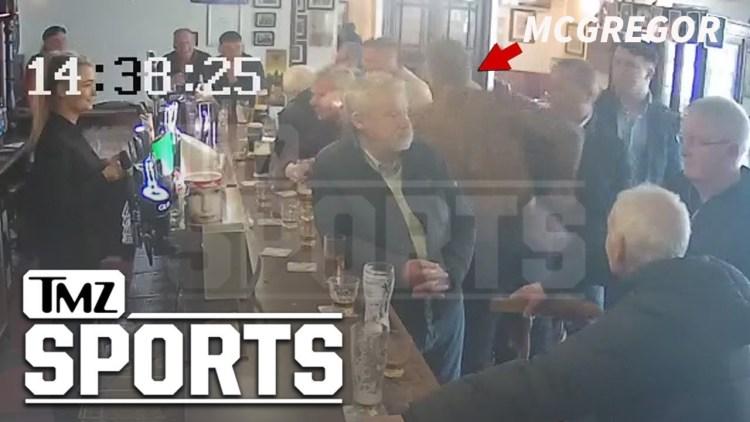 Conor McGregor le mete un puñaco en la cabeza a un anciano en la barra de un bar