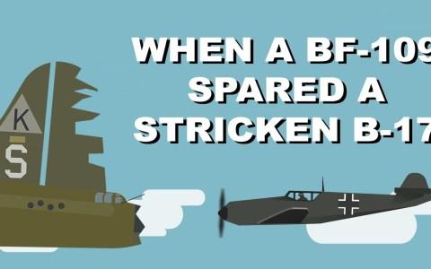 Cuando un BF-109 Alemán indultó a un B-17 americano muy dañado