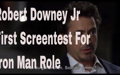 Primer casting de Robert Downey Jr antes de que le dieran el papel de IRON MAN