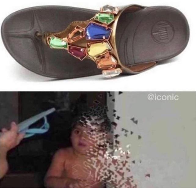 La chancla más temida del universo