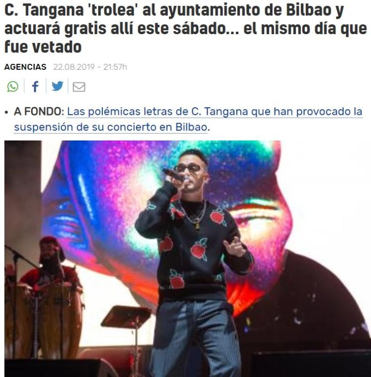 La amenaza del turbomachismo musical se cierne sobre Bilbao