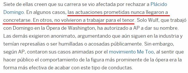Plácido Domingo: otro culpable hasta que se demuestre lo contrario