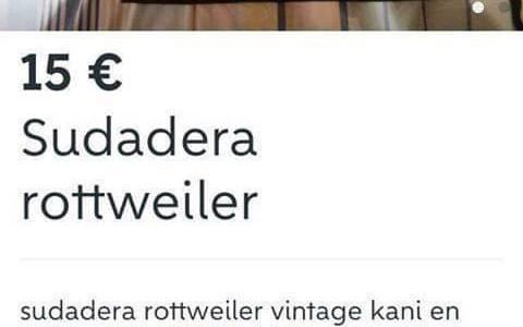 """""""Sudadera rottweiler vintage kani en perfecto estado"""""""