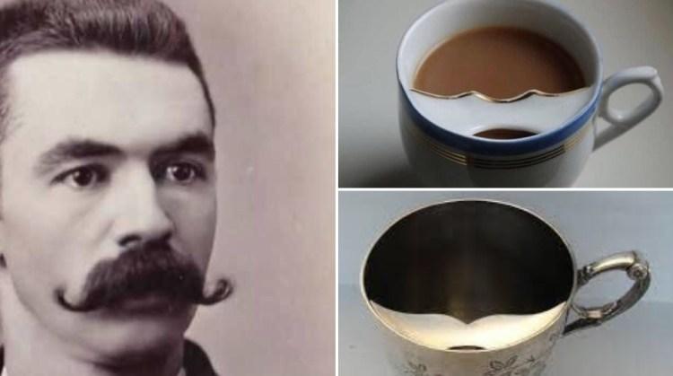 ¿Sabías que en la era Victoriana había tazas con protector de bigote para que los señores no se lo mojasen con el contenido?