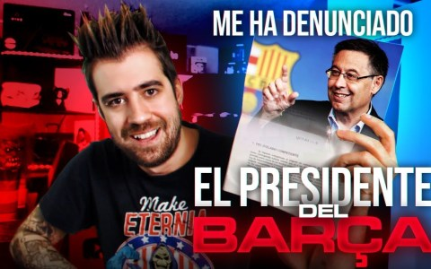 Josep María Bartomeu denuncia al youtuber AURON PLAY por burlarse de él
