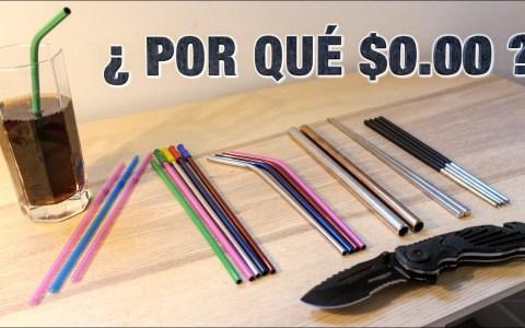 Las pajitas de metal que se venden por 0 euros