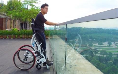 Leo II: La silla de ruedas manual que te permite ponerte de pie