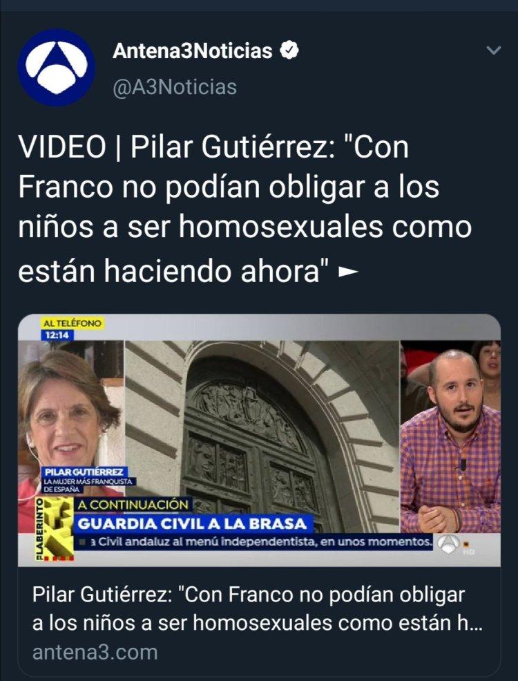 "Pilar Gutiérrez :""Con Franco se homosexualizaba mejor """