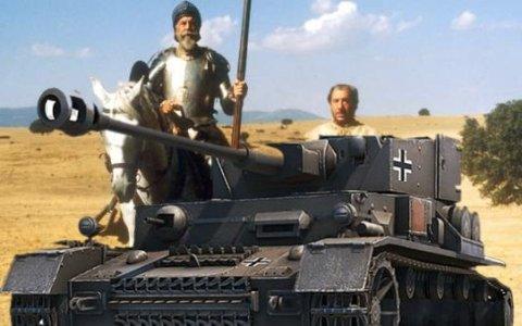 Don Quijote y Sancho Panzer