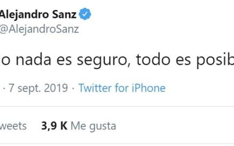Alejandro Sanz se cayó en una marmita de galletitas de la suerte de pequeño