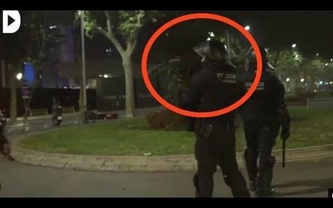 """Toma, HDP!"" la frase de un mosso tras acertarle a un manifestante con la escopeta de foam"