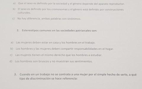 Señores y señoras, os presento...  Los exámenes de igualdad de género para mozo de almacén/carretillero:
