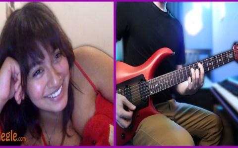 Tocando la guitarra para chicas de Omegle