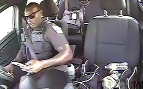 Un policía que iba mirando su móvil mientras conducía, es sorprendido por un coche volador