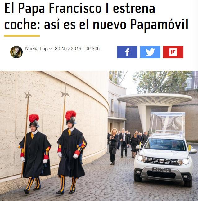 El Papa se ha hecho un downgrade
