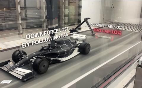 F1 de 2021 en el túnel del viento