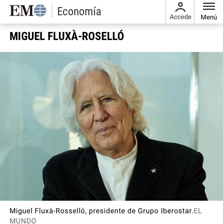 El presidente de los hoteles Iberostar es Joaquín Reyes haciendo de Richard Gere