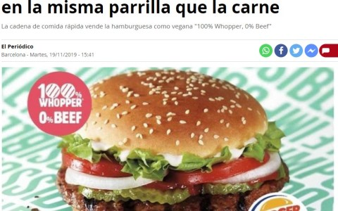 Se daría cuenta porque su hamburguesa tenía sabor