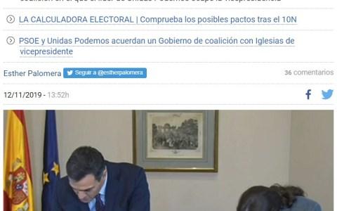 PSOE y Unidas Podemos por fin llegan a un acuerdo (7 meses tarde)