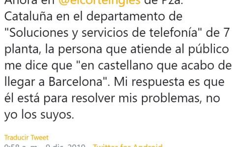 """Démosle un aplauso a Santiago, un héroe catalán que ha salvado a muchos conciudadanos de ser afectados por los """"problemas"""" de un empleado extranjero"""