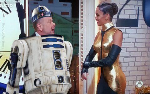 Pintaza la nueva de Star Wars con Arkano R2D2 y Cristina C3Pedroche