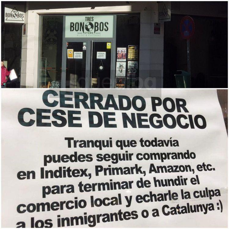 Local de Albacete echa el cierre con un cartel crítico con el sistema