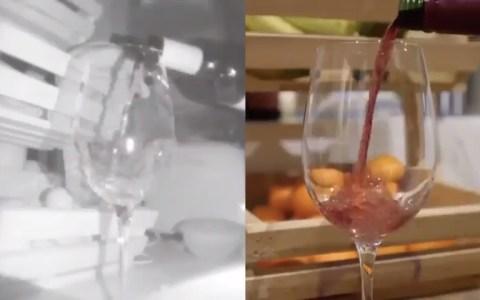Si te bebes una copa de vino usando gafas de rayos infra rojos, estás bebiendo agua