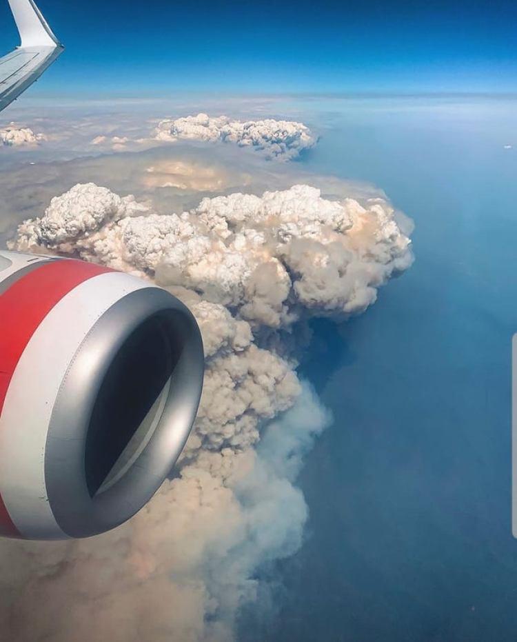 Recreación 3D de los incendios en Australia publicada por la NASA
