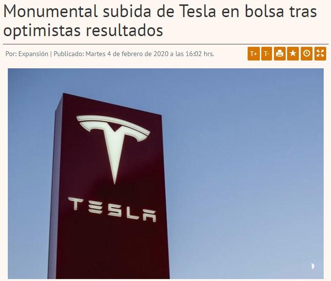 En estos momentos Tesla vale más que GM, Ford y Chrysler juntas, más del doble que Volkswagen