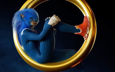 Esta es la 1a versión de Sonic que diseñaron para la peli, no es coña. Antes incluso que la versión que abortaron.