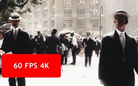 Nueva York en 1911, en 4K a color y 60FPS gracias a la mejora de imagen usando inteligencia artificial