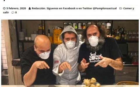 """Un bar de Pamplona crea el """"Croquetavirus"""", un pincho que se come con mascarilla"""