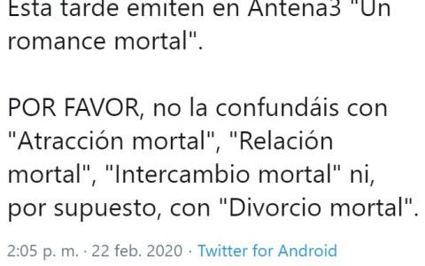 No confundir con muerte romántica