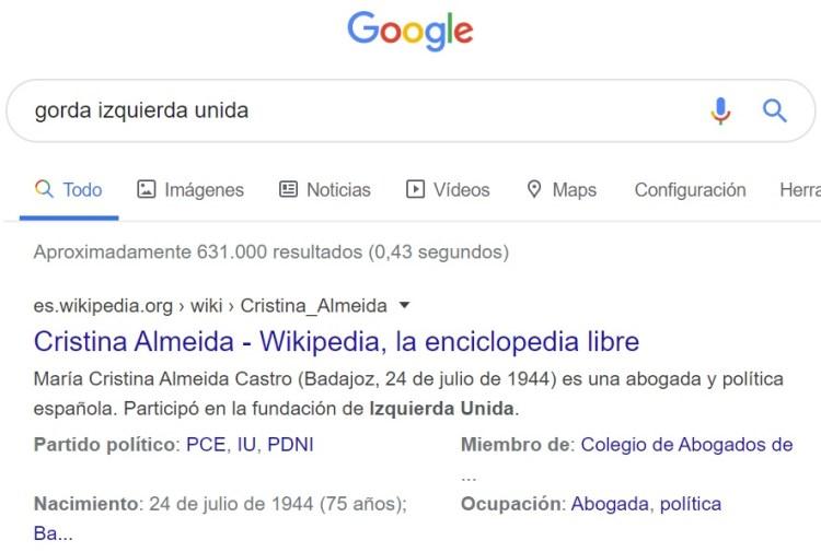 Estúpido y gordofóbico Google...