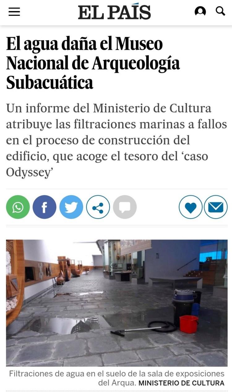 Fuego amigo en el Museo Nacional de Arqueología Subacuática