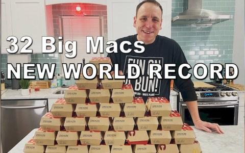 Cosas que puedes hacer durante la cuarentena por coronavirus: batir el record de comer Big Macs