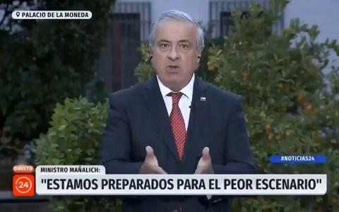 """Ministro de salud de Chile, Jaime Mañalich, vuelve a rechazar la opción de la cuarentena total, y argumenta que el virus puede mutar, y convertirse """"en buena persona"""""""