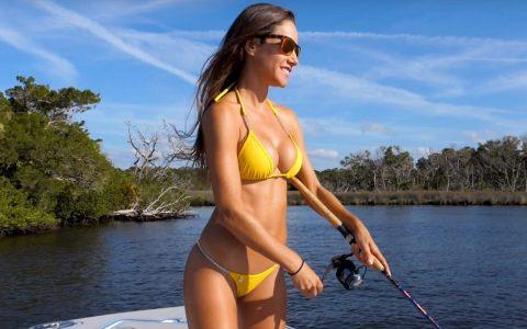 De pesca con Luiza