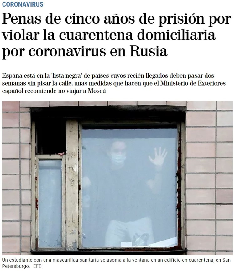 Putin te da dos opciones durante la cuarentena por coronavirus