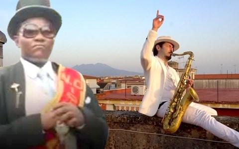 El coffin dance con saxofón