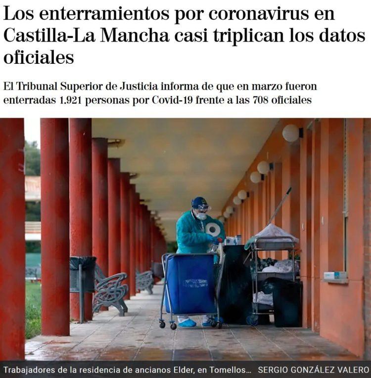 El Tribunal Superior de Justicia dice que en Castilla-La Mancha hay el triple de muertes por el virus de las que el Gobierno está anunciando
