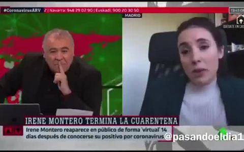 Que alguien le diga a Irena lo que es una videoconferencia, pls...