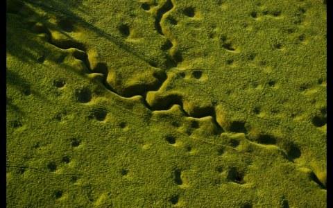 Campos de batalla de la Primera Guerra Mundial vistos desde el aire