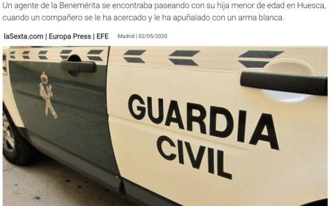 Compañeros colegas: Un Guardia Civil apuñala a un compañero mientras paseaba con su hija