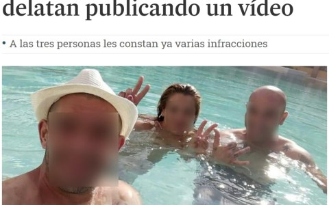 MONGUERS OF THE DAY: Se cuelan en la piscina de un hotel y suben el vídeo a Facebook