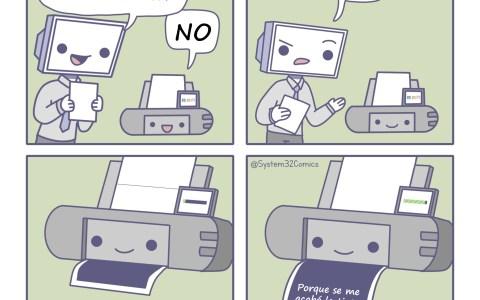 La tinta se acaba cuando lo dice la impresora, Y PUNTO