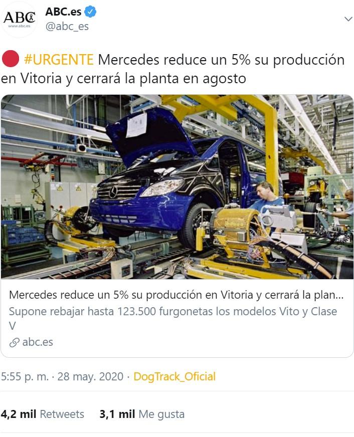 Más de 4000 vitorianos tuvieron diarrea instantánea por este titular sobre la planta de Mercedes