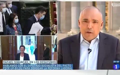 """Rafael Simancas (PSOE) culpa a PP y a Vox del pacto PSOE, Podemos y EH Bildu: """"Nos dejaron tirados, nos obligaron a buscar votos  [...] El PSOE hizo lo que tenía que hacer para seguir salvando vidas"""""""