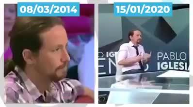 Pablo Iglesias podría tener un programa de debate en el que solo estuviera él, y al otro lado de la mesa estaría su yo del pasado